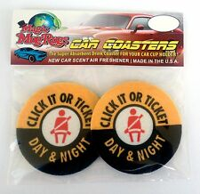 AUTO COASTERS, AIR FRESHENER by Magic Mug Rugs, CLICK IT OR TICKET, absorbent