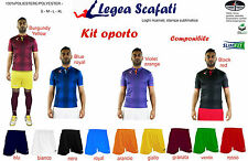 Kit Oporto Legea 8 kit 128€ Calcio Calcetto Sport Muta Divisa Training Pallone