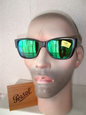 Rare Vintage PERSOL Sunglasses 402(69218) BLACK with GREEN Mirrored Lenses