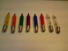 6 volt, Vintage, Spare Christmas Pepper Light Bulbs, 6 Coloured & 2 Fuse