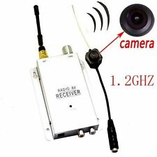 Mini Wireless Spy Nanny Micro Camera Cam Hidden Pinhole System NEW+ Receiver