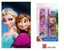 5 Pcs Disney FROZEN Anna Elsa Olaf Pencil Case Box Kids Girls Stationary Gift