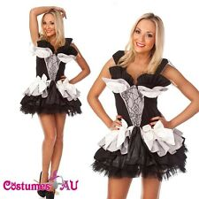 Ladies Queen of Darkness Costume Outfit Halloween Fancy Dress Hens Party