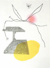 """Joan Miró vintage impresión litografía montado, 1972, 14 X 11"""", indeleble Miro IM037"""
