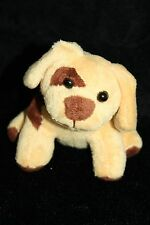 "Phoenix Custom Promotions Soft Tan Brown Patches DOG  Plush SMALL 4"" Toy Stuffed"