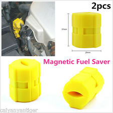 2 ×Universal Magnetic Gas Fuel Saver For Car Motorcycles Truck Reduce Emission