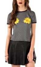 Womens Vans Daisy Craze T Shirt Top Grey Size L NEW