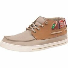 Sanuk Mens Schooner Funk Canvas & Leather Boat Shoe - size UK 7 - new in box