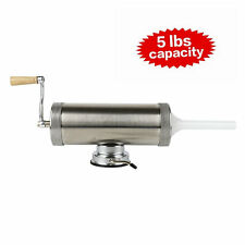 5lbs Meat Sausage Stuffers Filler Stainless Steel Salami Tool for Sausage Making