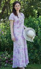 "NWT NEW April Cornell Summery Watercolor Lavender ""Lilac"" Dress S"