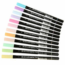 ZIG Art and Graphic Twin Watercolour Marker 12 Piece Set - Pastel Tones