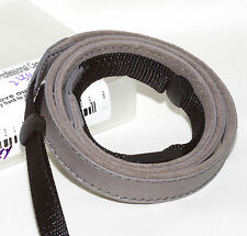 Rugged Leather Fashion Camera Strap #225 (gray): Pentax Nikon Canon Sony Leica