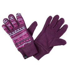 Puma Akutan acrylic knit purple graphic women's wrist gloves 040965 02 Size L/XL