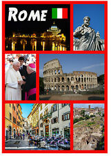 ROME, ITALY - SOUVENIR NOVELTY FRIDGE MAGNET - SIGHTS / FLAGS - GIFTS - NEW
