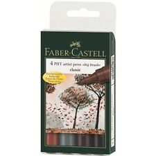 Faber-Castell PITT Artist Pen Big Brush Classic 4 Colors Professional Marker
