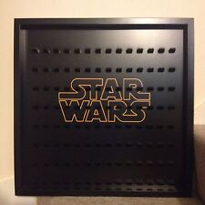 Large Lego Star Wars Logo Mini Figure Minifig Display Frame Case