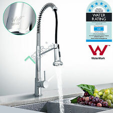 Commercial Pull Out Gooseneck Kitchen Sink Basin Mixer Tap Faucet Pre Rinse WELS