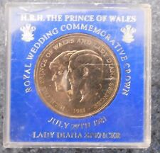 """1981 GREAT BRITAIN   """" ROYAL WEDDING """" CROWN UNCIRCULATED COIN PERSPEX CASE"""