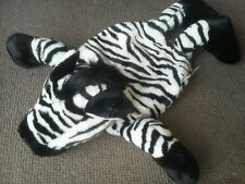 Nici Pajama Bag Zebra Black White Stripe Zipper Pouch Animal Stuff PJ Jammie EUC