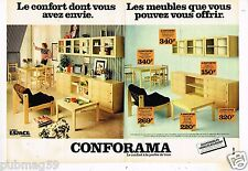 Publicité advertising 1978 (2 pages) Meubles Mobilier  Conforama