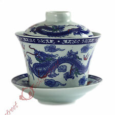 NEW 130ml Chinese JingDe GongFu Tea Porcelain Dragon & phoenix Gaiwan teacup Cup