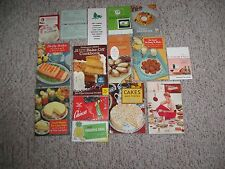Very Rare Vintage Lot of 15 Recipe Advertising Cookbook Booklets 1950's (Lot E)