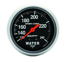 Auto Meter Sport-Comp 120-240 Deg F Mechanical Water Temperature Gauge 2 5/8""