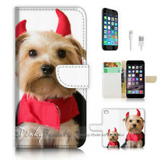 iPhone 6 6S (4.7') Flip Wallet Case Cover P3036 Evil Puppy Dog
