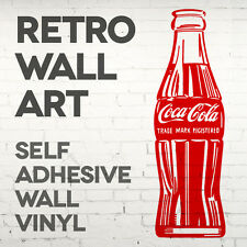 Retro coca cola bouteille Autocollant Mural-Autocollant Transfert vinyle graphique-Qté X2