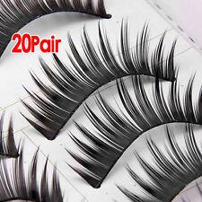20 paire faux cils dense long cil noir maquillage yeux eyelashes WT