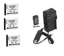 3 Batteries +Charger for Olympus TG-835 TG-850 VG-190 VH-410 VH-510 VH-520 XZ-10