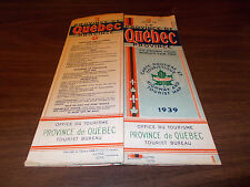 1939 Quebec Province-issued Vintage Road Map