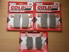 HONDA VTR1000 SP2 VTR 1000   FULL SET SINTERED FRONT & REAR BRAKE PADS GOLDFREN