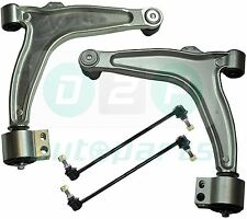for Vauxhall Vectra C Front Suspension 2 Lower Wishbone Arms With Bushes + Links