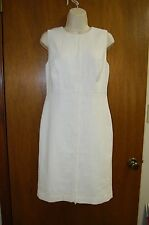 ANN TAYLOR Womens New Cream Winter White Textured Sheath Dress Sz 6 P $139.00