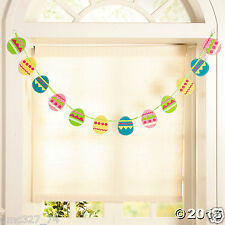 EASTER Spring Party Hanging Decoration Felt EASTER EGG GARLAND 6 ft long