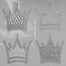 6 x Crowns Clear Rhinestone Diamante Stick on Self Adhesive GEMS Frozen Theme