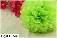 6Inch Light Green Tissue Paper Pom Poms Flower Ball Wedding Birthday Party Décor