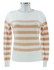 Philo-Sofie Pullover 36 weiß lachs Streifen Baumwolle Kaschmir neu mit Etikett