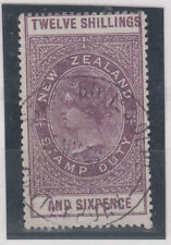 New Zealand Queen Victoria 12 Shillings & 6 Pence Mi#25 USED