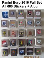 Full Complete Set / Collection Of Panini EURO 2016 Football 680 Stickers + Album