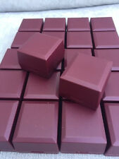 WHOLESALE JOBLOT 50 BURGUNDY RING BOXES JEWELLERY GIFT BOXES HINGED PACKAGING