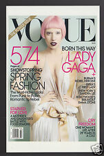VOGUE MAGAZINE COVER ART REPRINT POSTCARD March 2011 Lady Gaga by Mario Testino