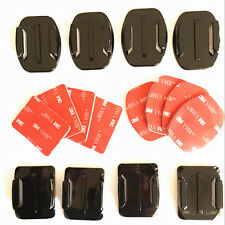 8pcs Flat Curved Adhesive Mount 3M Helmet Accessories For Gopro Hero 1/2/3 Kit
