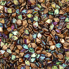 Dragon® Scale 5mm Crystal Copper Rainbow Glass Seed Beads 9g (M34/6)