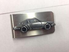 Porsche 911 ref186 pewter effect car emblem on a stunning Money Clip