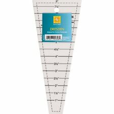 EZ Quilting Dresden Acrylic quilting ruler Template 1 to 8 inch