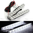 2x 9 LED White Universal 12V Car DRL Daytime Running Light Fog Lamp Waterproof
