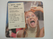 Beer Coaster ~ Offy Your Head Drinking Event ~ Belfast, IRELAND First Trust Bank