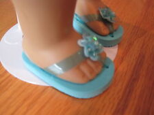 """Blue Sandals with Flower - that fit 18"""" dolls such as American Girl - #YY"""